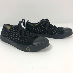 Ugg studded snap suede sneaker shearling lined